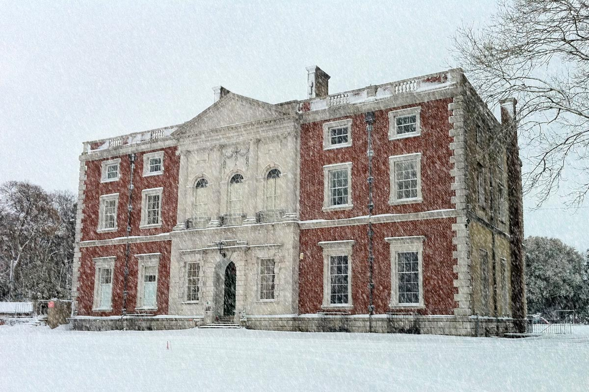 Merley House in the Snow