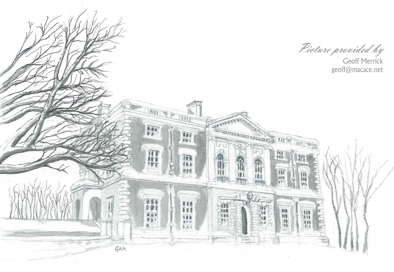 Merley House Winter Sketch