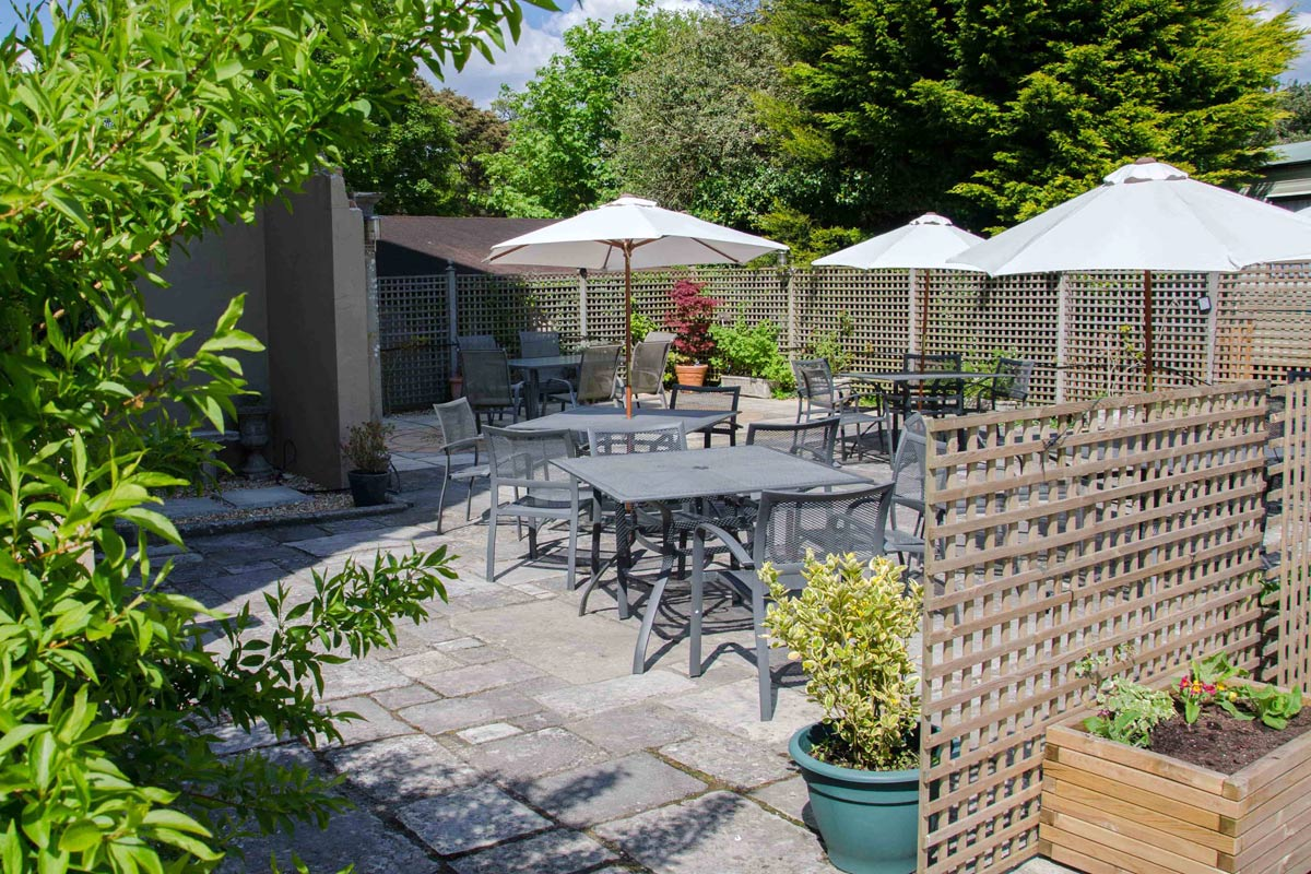 Enclosed Patio Terrace Merley House Dorset